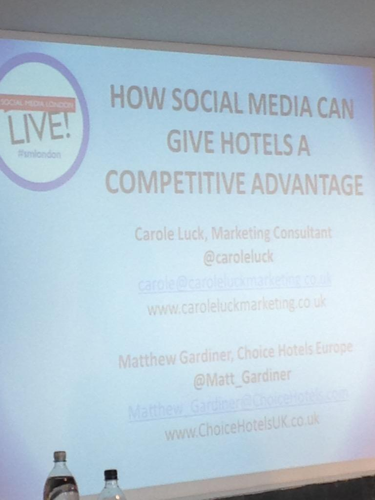 Looking forward to @Matt_Gardiner and @caroleluck #smlondon hotels and social media http://t.co/YD42WHXqVv
