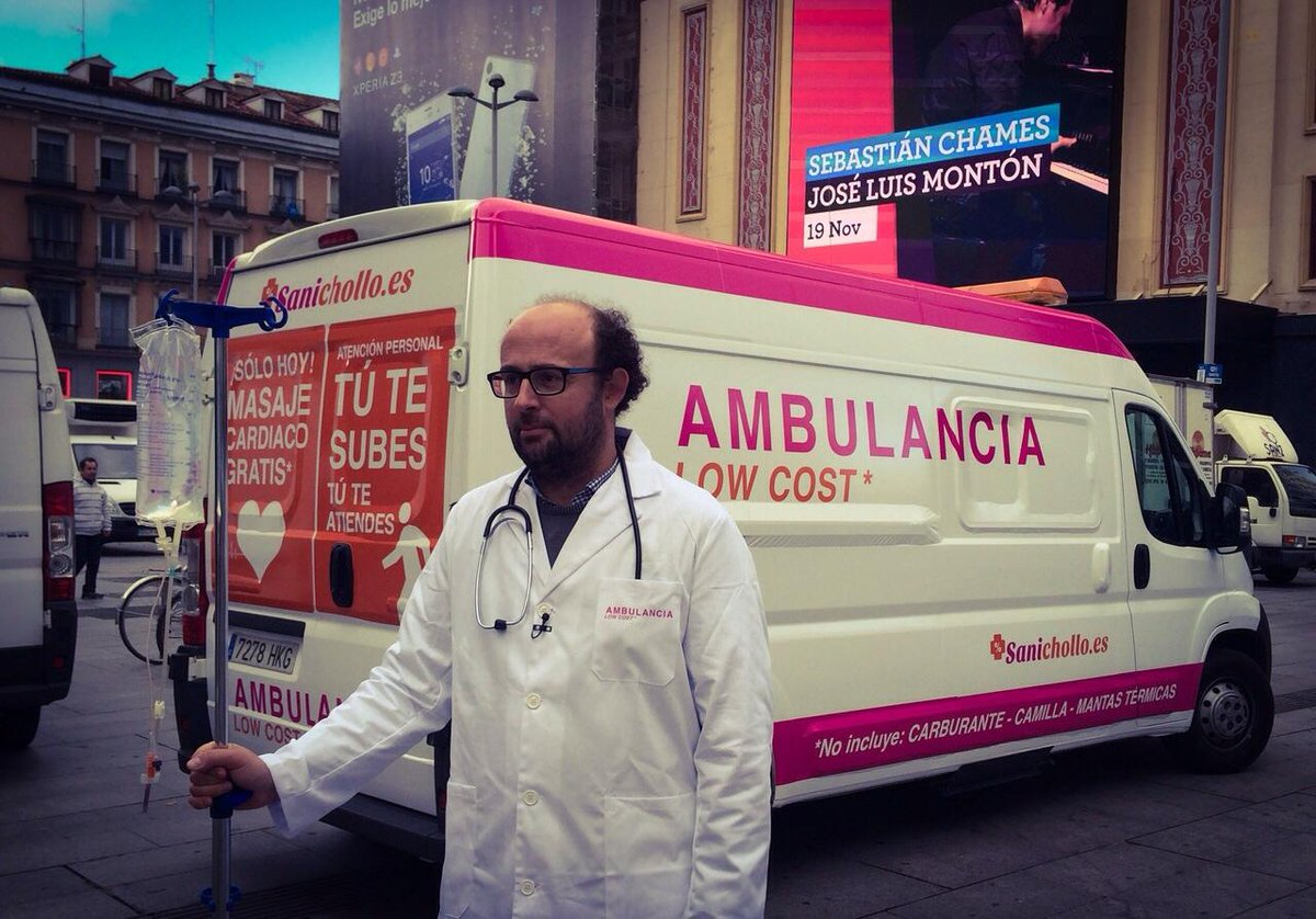 #SaniChollo, la campaña de @MedicosdelMundo para denunciar los recortes de la sanidad pública http://t.co/K8y0ZOcrBV http://t.co/Zxk3SvFFbG
