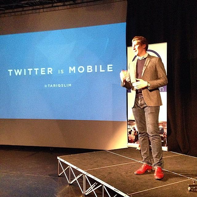 .@TariqSlim of Twitter now speaking about Marketing in the Now #smlondon (great shoes Tariq!) http://t.co/ZdIyquShFF