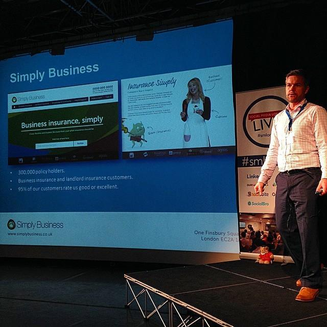 Don't tell anyone but @jaspermartens of @simplybusiness actually hates insurance! #smlondon http://t.co/vBb4rH0Urv