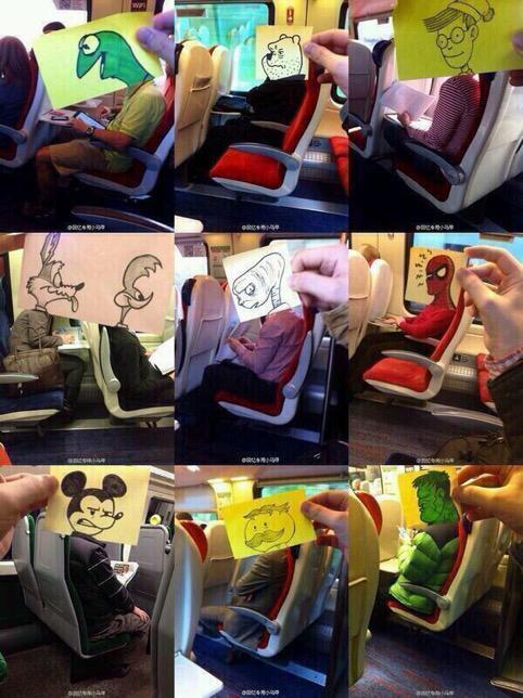 "Gold. ""@danmartell: Bored on public transport /via @therealbanksy http://t.co/XFx50cJjTv"""