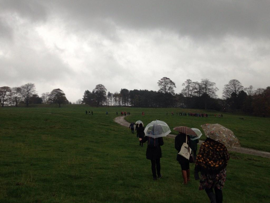 Beautiful weather for discovering sculptures @YSPsculpture #engageconf14 http://t.co/35nWH8BlcK