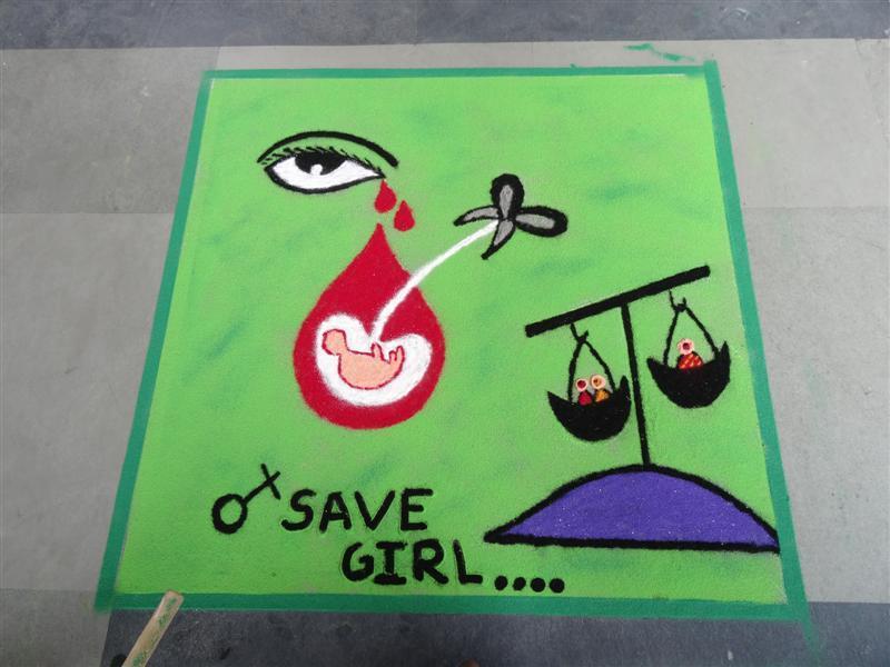 Save Girl Child Rangoli | www.imgkid.com - The Image Kid
