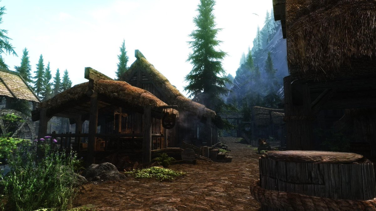 Had #GSSkyrim running at 4k setting up this week's mods. I've crippled the framerate to a stunning 5fps. Worth it? http://t.co/2yD6roYinS