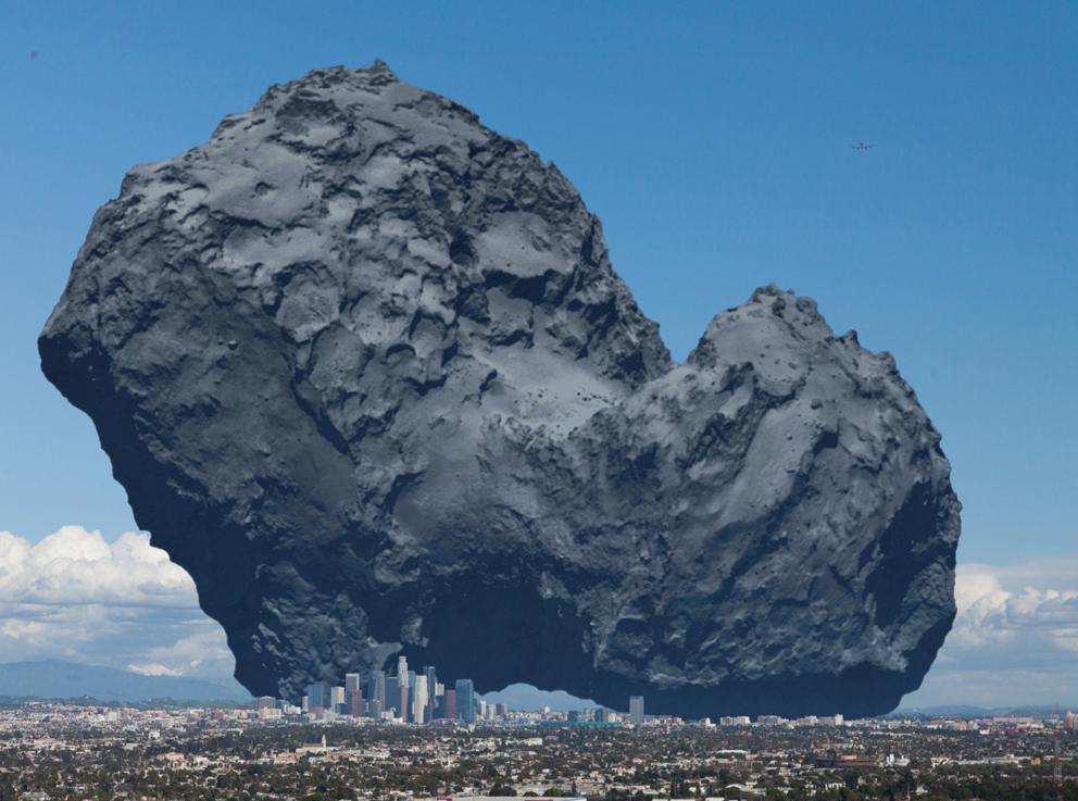 Size of comet 67p relative to LA (drawing @quark1972) http://t.co/niKCKJFLYq
