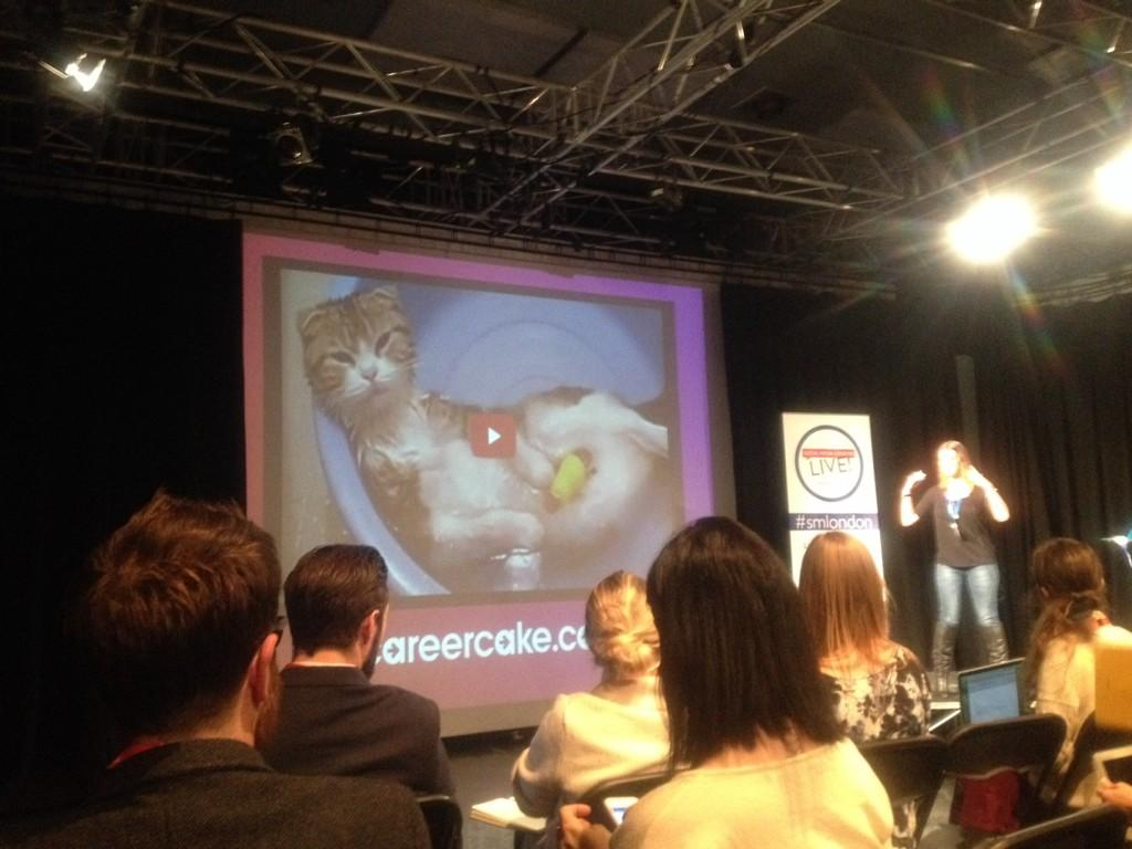 Finally some cats! #smlondon @Aimee_Bateman talking about YouTube and it's potential... #lifebeyondcats http://t.co/URkSsqUIf4