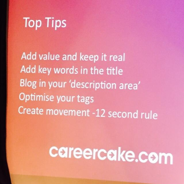Top tips for optimising your video content from @Aimee_Bateman #smlondon http://t.co/BFE6eGwPdw