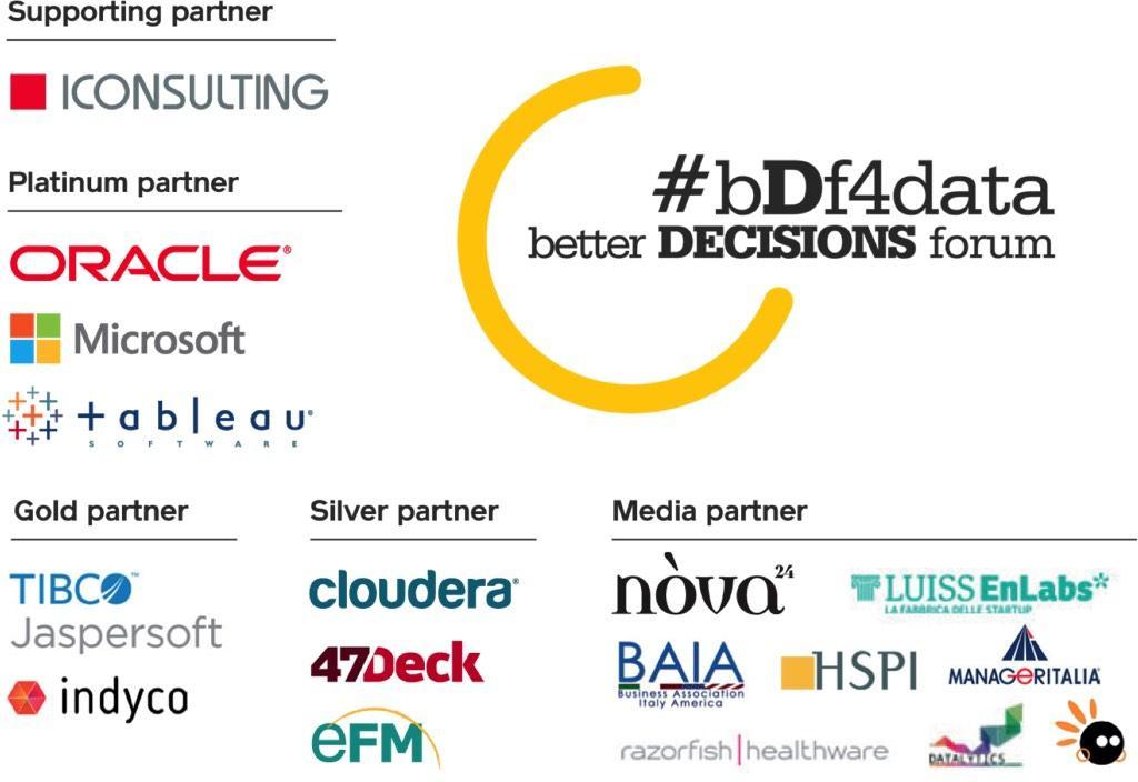 Ringraziamo nuovamente tutti i nostri sponsor! #bDf4Data http://t.co/O2LM2s0oDe