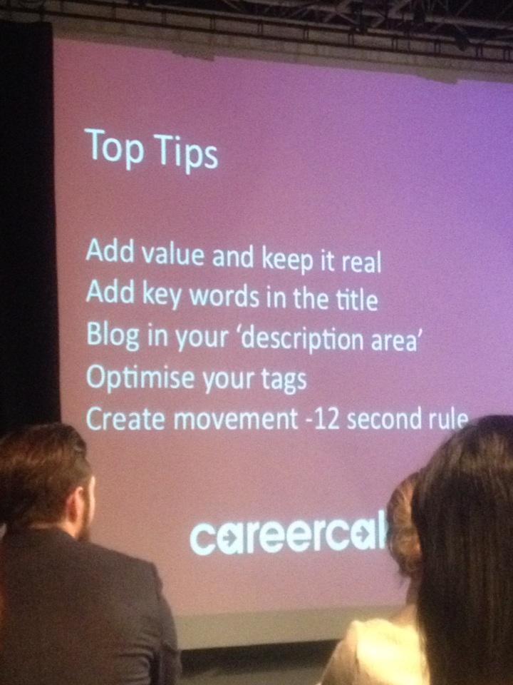Top tips when making Youtube videos by @Aimee_bateman #smlondon http://t.co/XaGvQQArDI