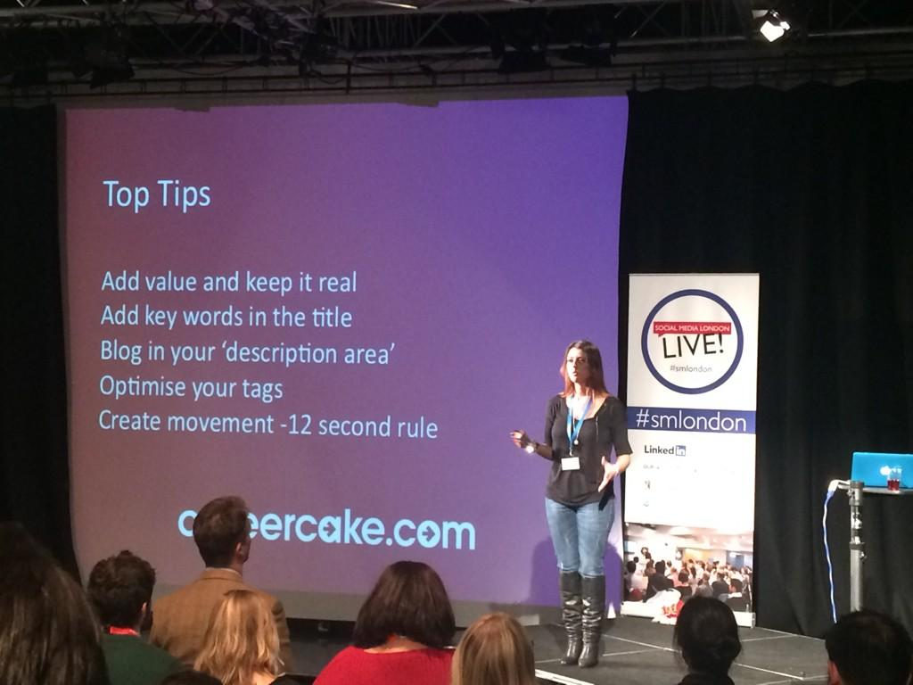 Great youtube tips from @Aimee_Bateman #smlondon http://t.co/A6mYAGWYOZ