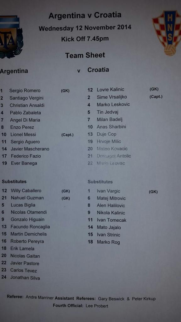 resultado argentina croacia por fecha fifa 2014 2 1