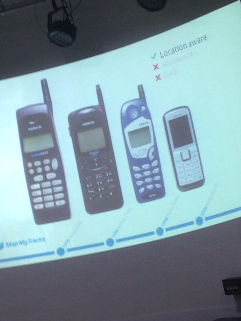 Nick tatt from @mapmytracks kicking off #digibury with a brief history of #gps in mobile phones http://t.co/jTDXE1YlzQ