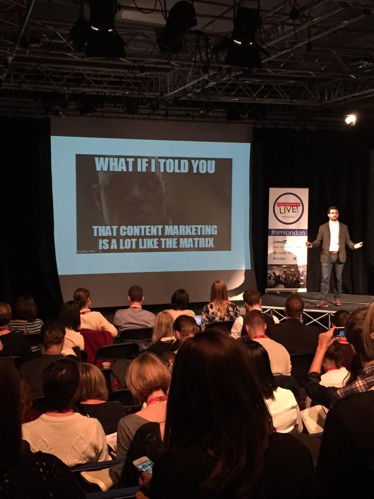 It took THIS long for a meme to appear at a social media conference?! Well done @JonLombardo #smlondon http://t.co/kZdnIA7H6O