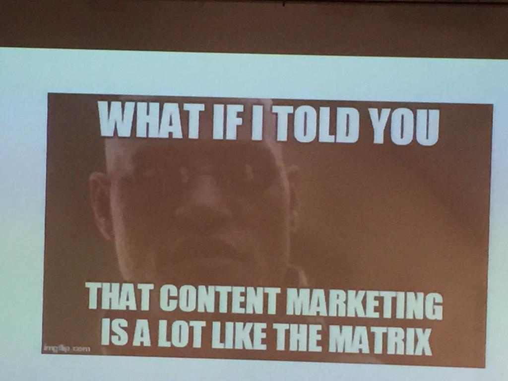 OMG is it? #smlondon #ContentMarketing by @JonLombardo http://t.co/zxUODzAVR0