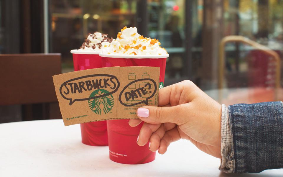 Buy any holiday drink & get one free for a friend. 11/12-11/16 from 2-5PM [participating US + CA stores] ☕☕
