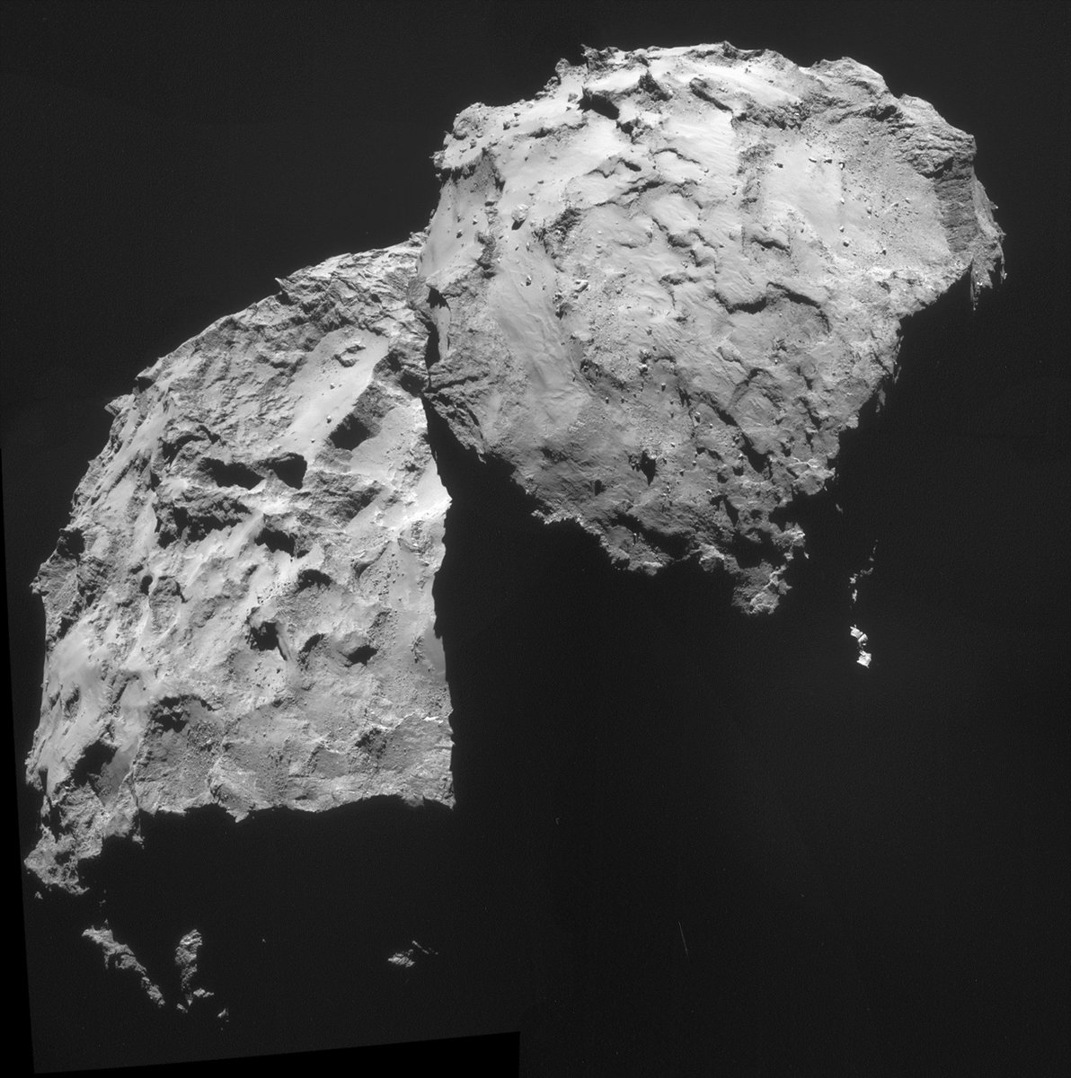 SUCCESS! @Philae2014 had successfully touched down on the surface of the comet! #CometLanding! YOU ARE HERE↓ http://t.co/BdHFbcxSoE