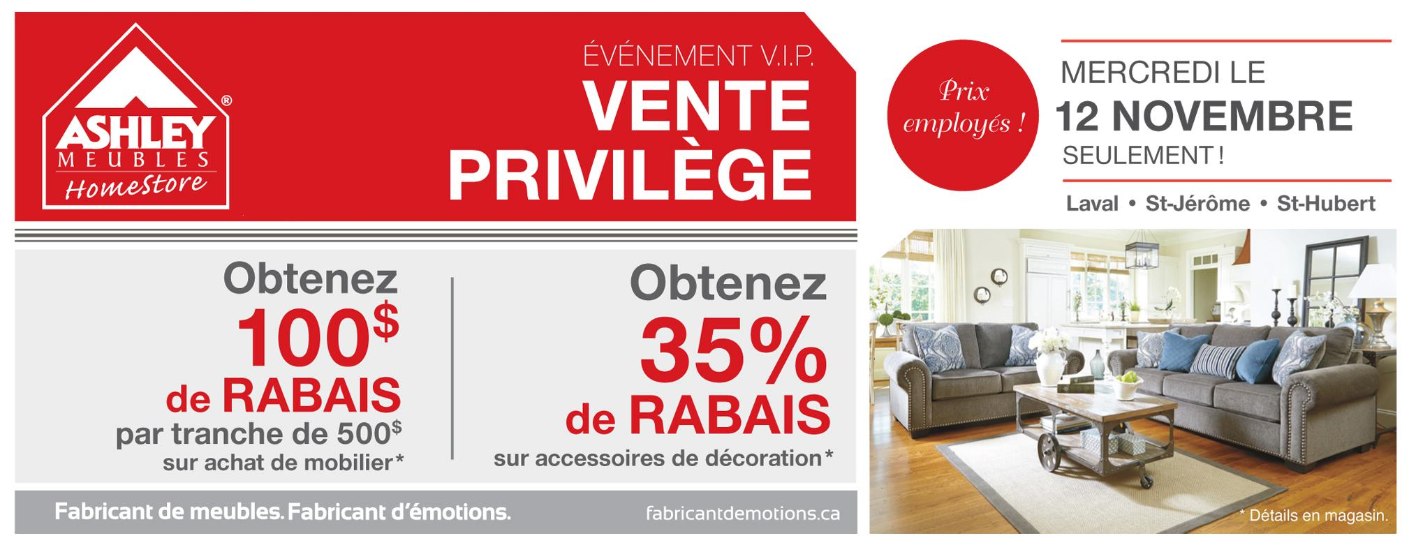 Meubles ashley on twitter aujourd 39 hui seulement promo for Ashley meuble sherbrooke