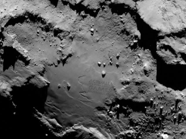 AMAZING first photo from the Rosetta lander and -- wait, is that... is that *writing*? http://t.co/LgqGNfqx8p