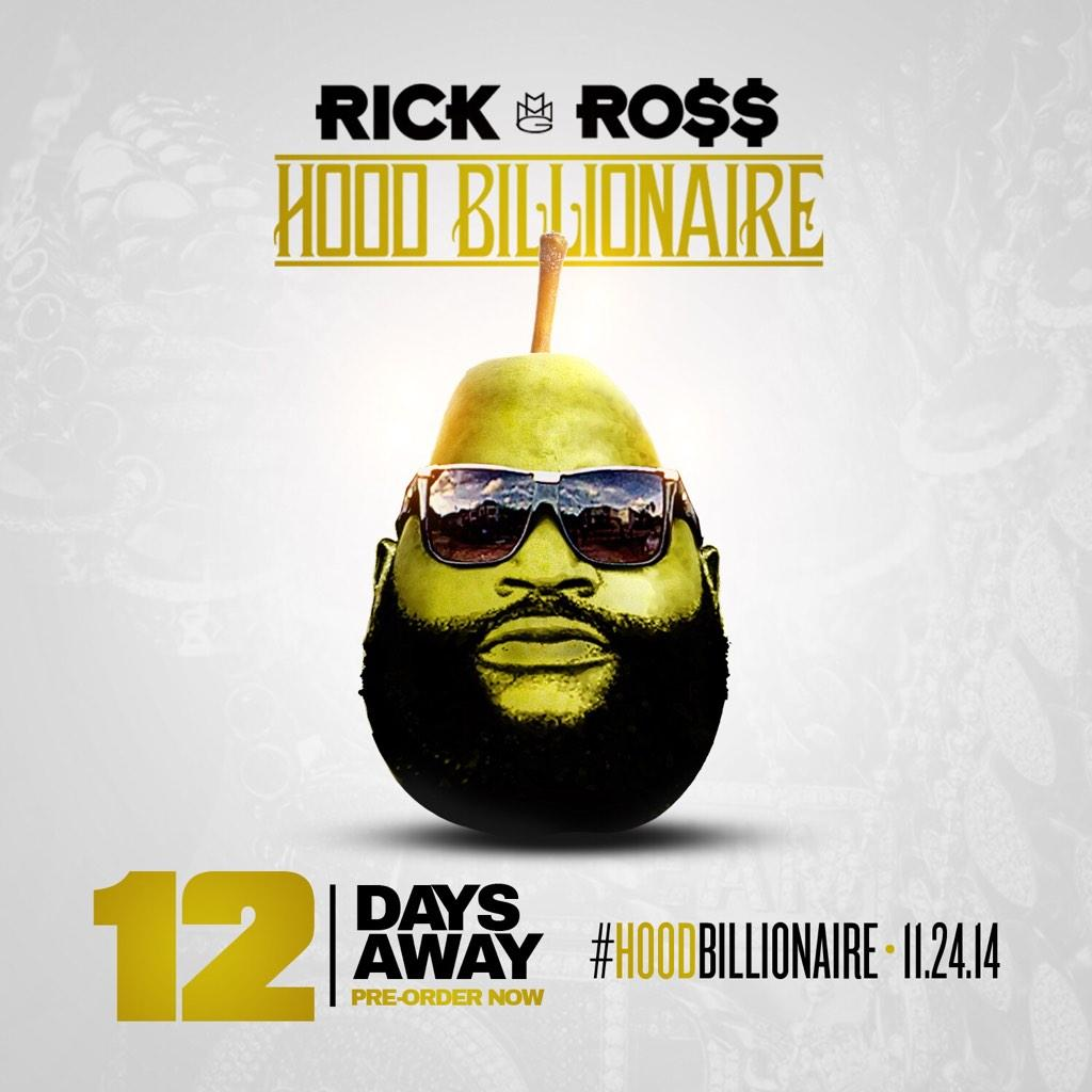 Shout out to all the #Pears pre-order #HoodBillionaire. http://t.co/cyWVBMBHEk We are only 12 days out ! @rickyrozay http://t.co/4m204C0dCQ