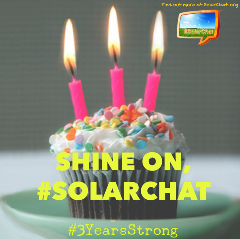 #SolarChat is #3YearsStrong Kudos to @RainaRusso @SolarChatTeam & all involved! (Pls. RT) http://t.co/IsqDmtaxw5 http://t.co/wfZU3XGaMs