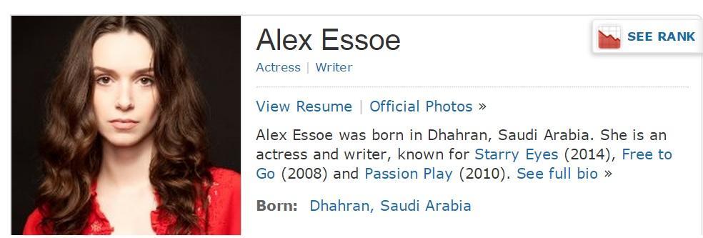 alex essoe wiki