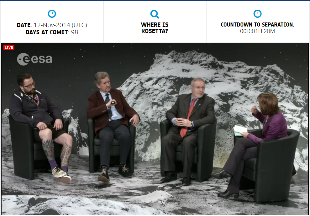 Dude responsible for comet landing is on the left: http://t.co/YbEmKJ3JvO