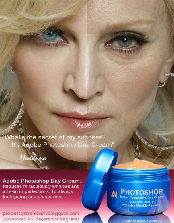 Os Internautas fazem memes com o uso de Photoshop em versão creme por Madonna.