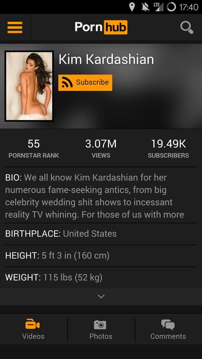 Kim Kardashian Pornhub
