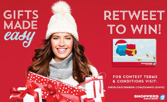 holiday GIFTS MADE EASY @ShopprsDrugMart. Retweet to Win 1/10 $100 gift cards #SDMHolidays http://t.co/aNF5paabPE http://t.co/FNviWWpfWV