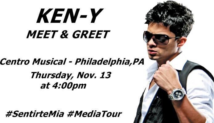 Acompaña a @ken_y_official mañana en el @Centromusical de Philly en su firma de autógrafos de su nueva producción http://t.co/iOpGdgvQgT