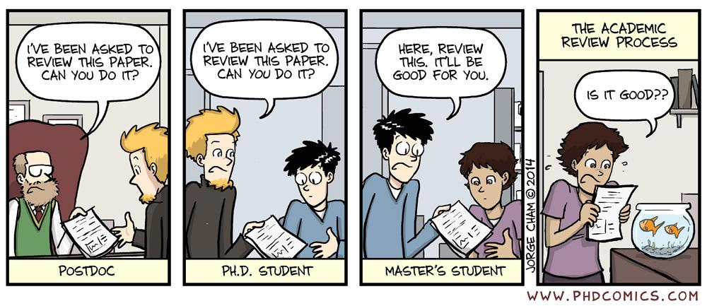 phd comics writing an abstract for a presentation