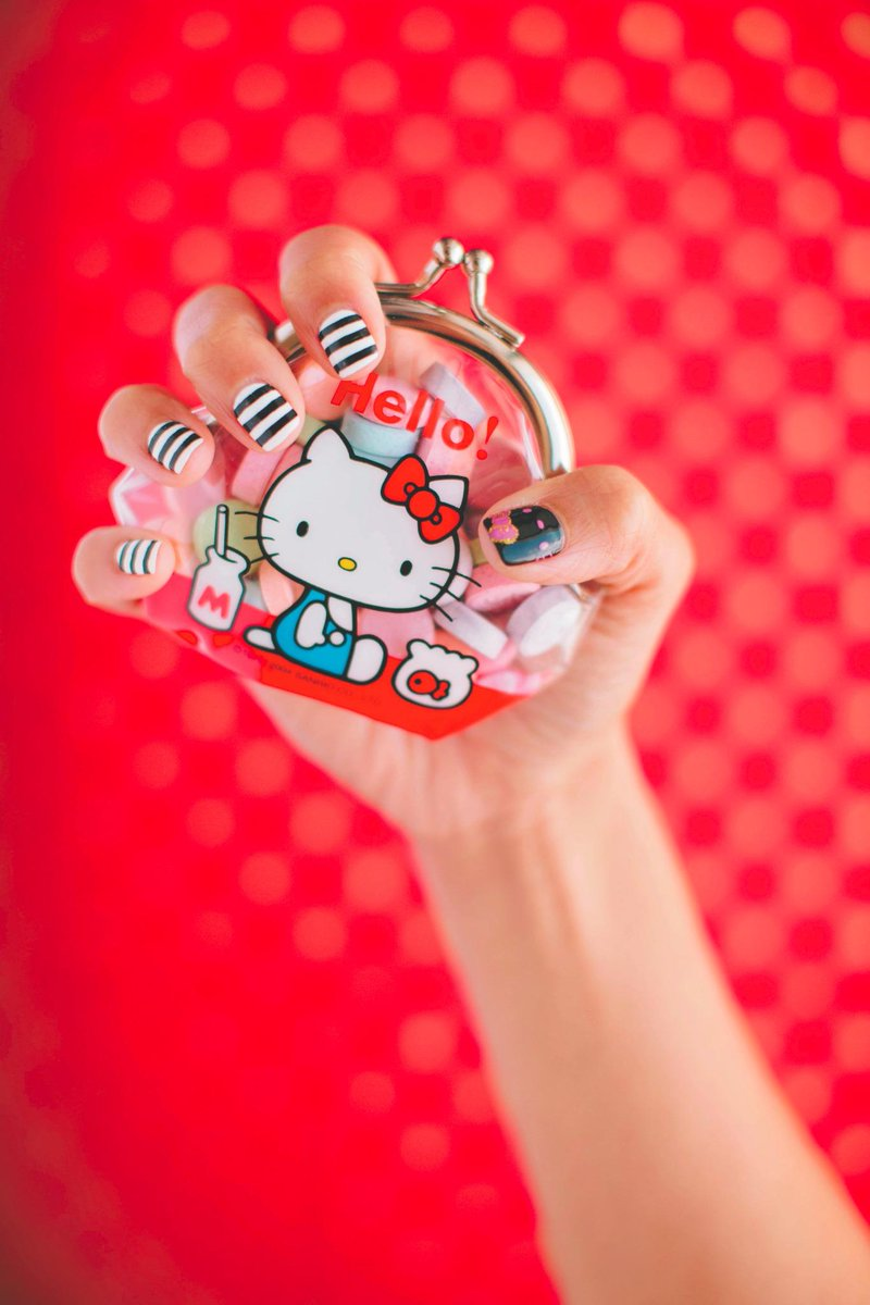 Hello Kitty On Twitter Supercute Diy Sanrio Nail Art Hello