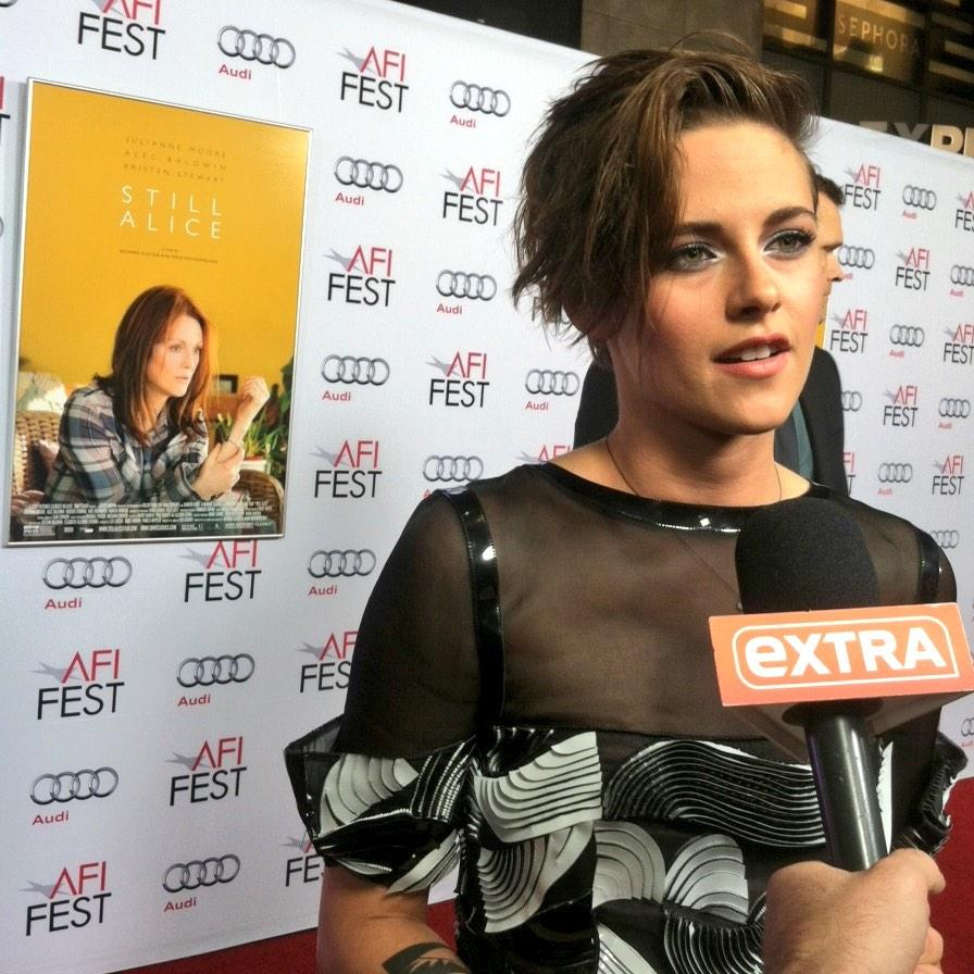 """We had a great time together.  She's hilarious!"" #KristenStewart on working with #JulianneMoore #StillAlice #AFIFEST http://t.co/8WWFajot1g"