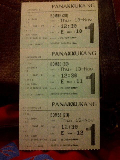 Yeaaahhhh 1 kalija' antri @filmbombe langsung dapat tiketnya tanpa antrian lama...Alhamdulillh :D