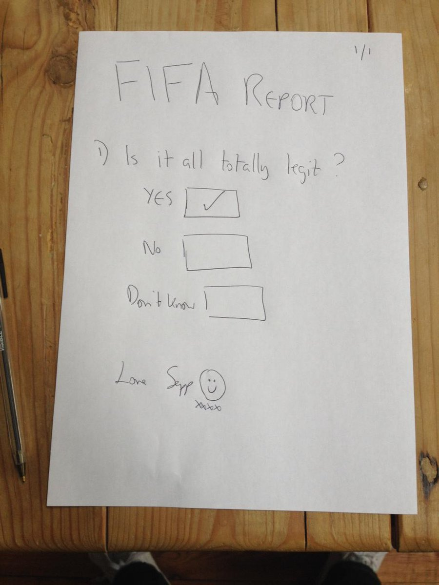 Got my hands on the Fifa report. http://t.co/hWdC7yi5ib