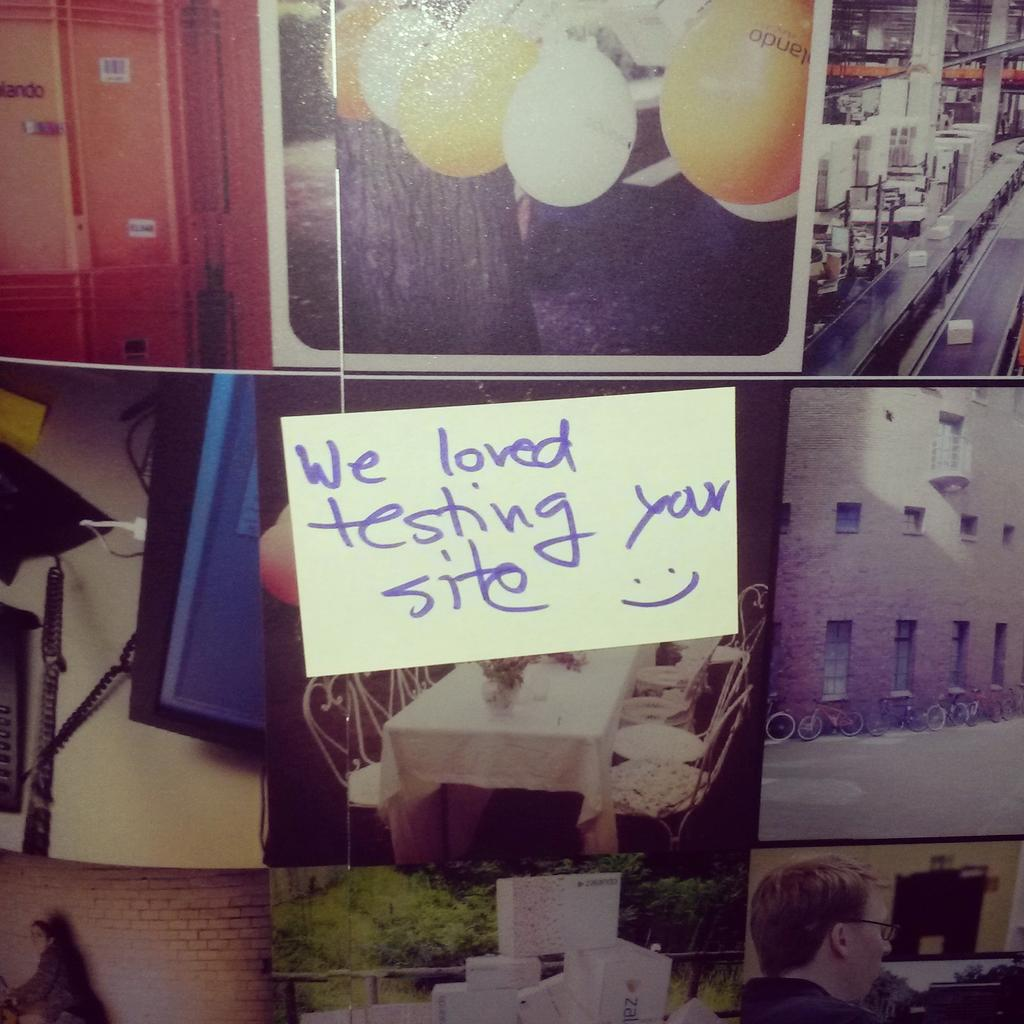 Note at the zalando booth on the following day - picture thanks to @ZalandoTech