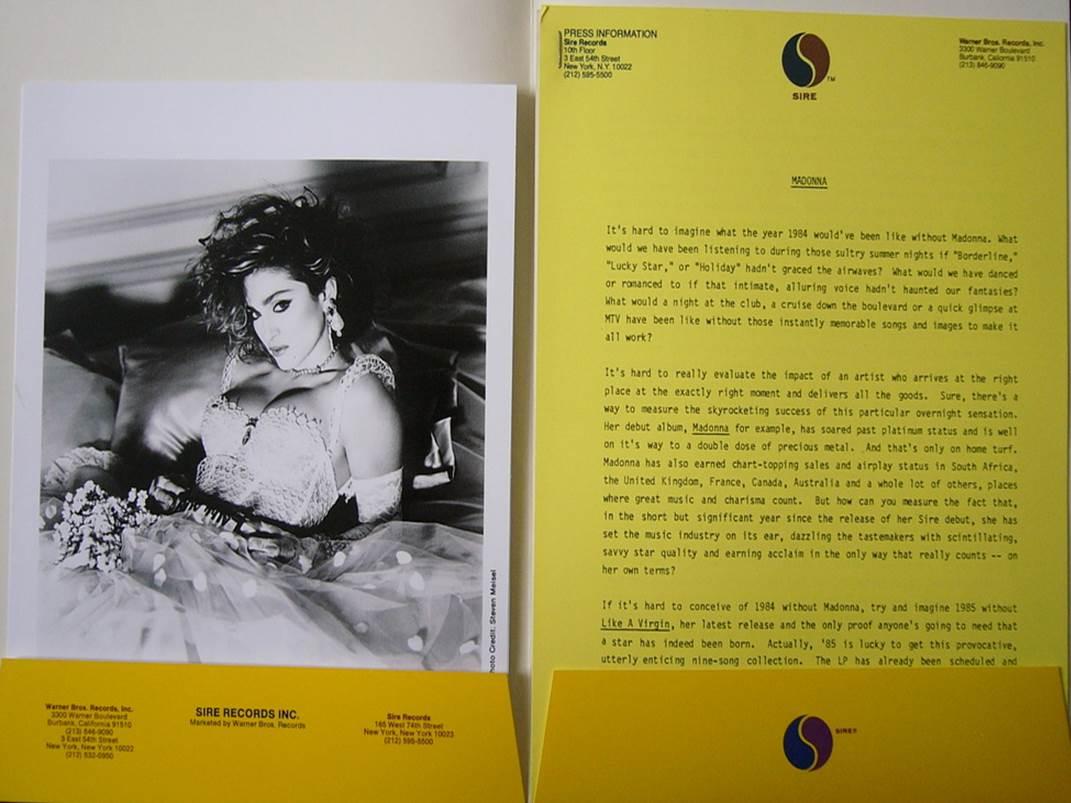 Original Press Release for @Madonna's LIKE A VIRGIN @sirerecords @LizRosenbergPR @LizRosenberg2 #LikeAVirgin30 http://t.co/eJeea8oI8P
