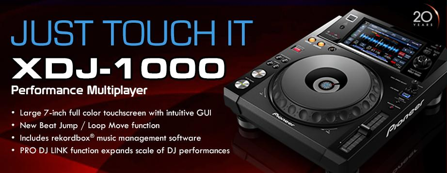 Introducing the XDJ-1000! Featuring a 7-inch touchscreen, rekordbox, PRO DJ LINK, & more! http://t.co/f3dxexgVgy http://t.co/IUQ3MzOrYt