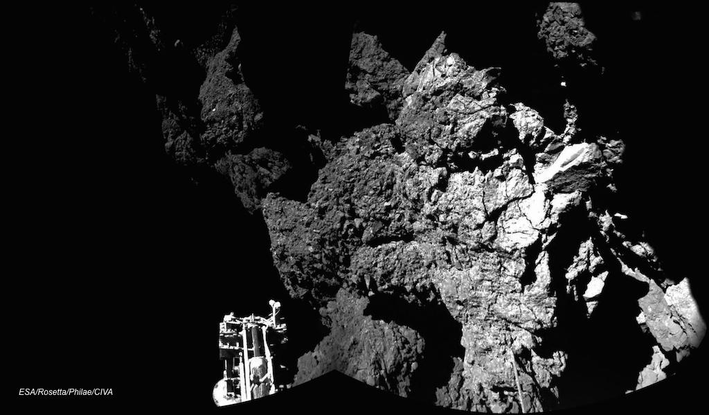Comet probe Philae is stable and sending photos to Earth