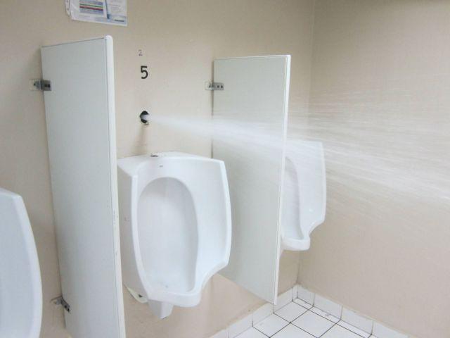 女子は知らないと思うけど、男子便所にはこういう罠が潜んでいるので男子は命がけでトイレに向かうの。 pic.twitter.com/BCUU388NBS