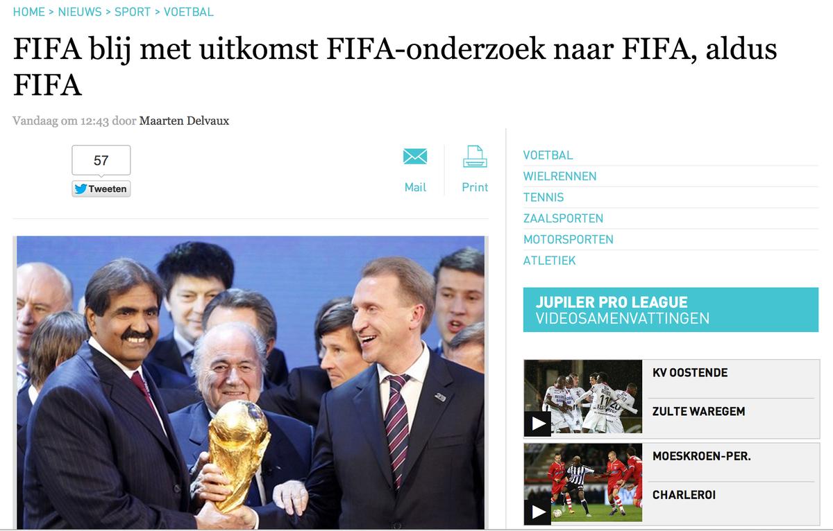 Fantastische FIFA-kop boven dit FIFA-artikel, laat FIFA weten. http://t.co/yhopAUsvbY http://t.co/riLDwdedkN