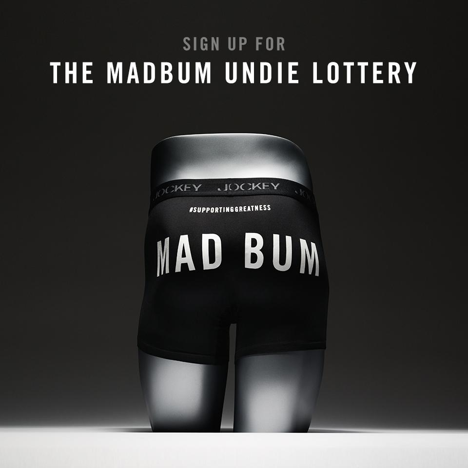 Greatness comes to those who wait. Enter to win the #MadBum undie lottery http://t.co/PiLA6kqrei #SupportingGreatness http://t.co/XUn9Agoq85