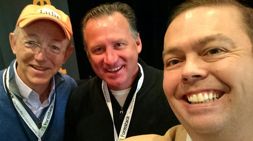 Selfie with @Mark_Gottfried and @CaretakerBob photo bombing at #ISUM14 http://t.co/UrFE8xPPr3