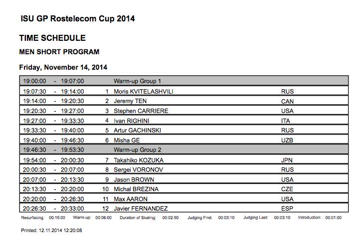 4 этап. ISU GP Rostelecom Cup 2014 14 - 16 Nov 2014 Moscow Russia-1-2 B2VWGlhIQAA1QDV