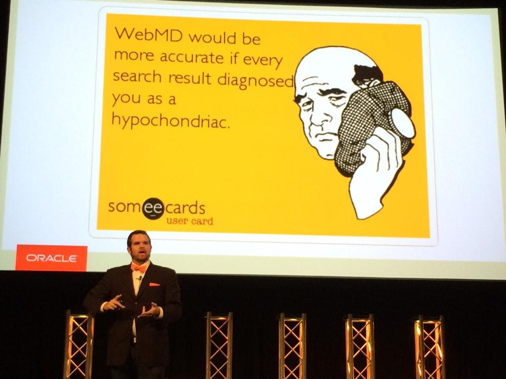 I like that @cnmoody is smart enough to walk in front of his awesome slides. #ISUM14 http://t.co/8ucM6beJJx