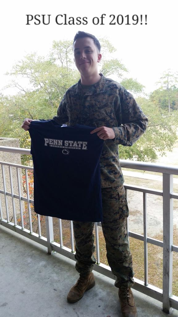 Can't wait to start the next four years of my life! #PSUmilitary #PennState http://t.co/VYd58ClAK1