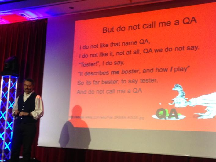Do not call me a QA! (Amen) leads to wrong expectations & behavior. @eviltester #agiletd http://t.co/MSVDv9G6cj