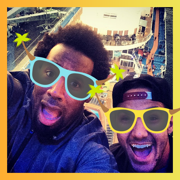@DhaniJones @TheCarlosPena The only way to take in the best view onboard. #selfieatsea http://t.co/Zk4wuJHpm6