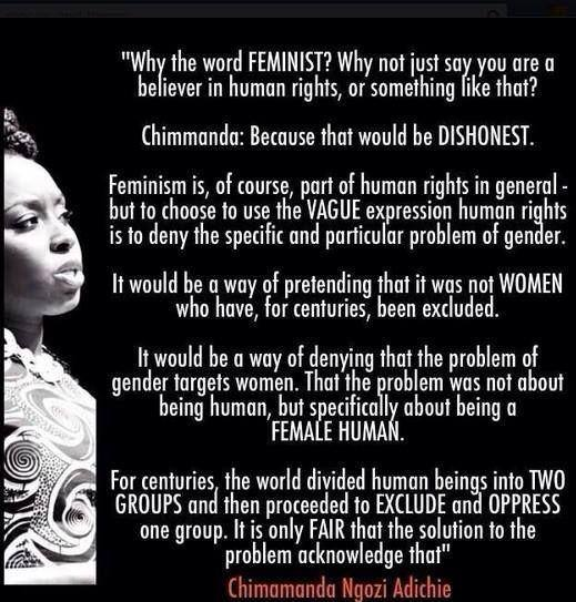 Why not just say you're a humanist? Is there really a need for feminism? http://t.co/ZibO0Gqr1T