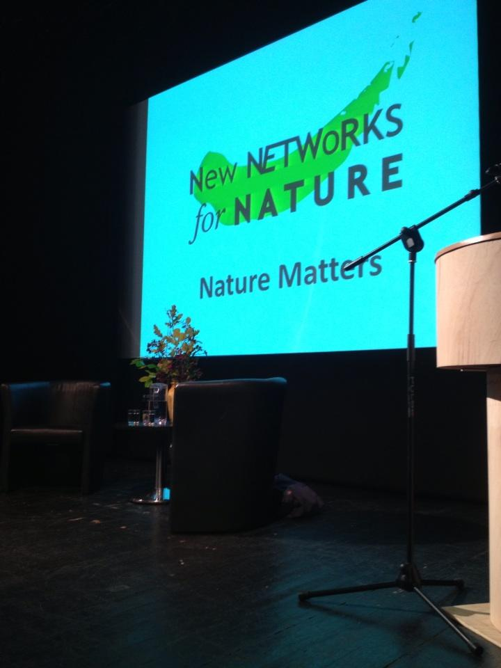 The stage is set. @networks4nature is about to kick off with Richard Mabey and @TimDee4 http://t.co/kq0GdirQun